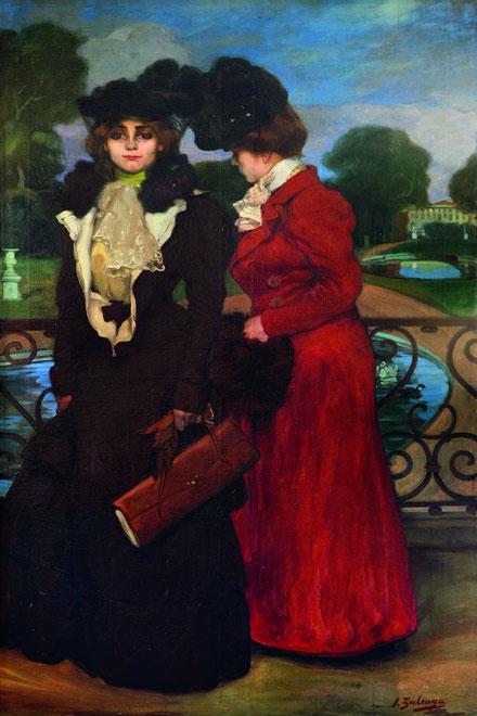 Zuloaga, Parisienses 1900.San Telmo.Donostia.San Sebastian. La mujer parisina como prototipo de sofisticación elegancia y modernidad, centraron estos primeros años en París.