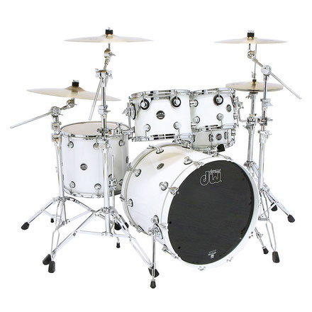 "Performance Series - Solid White - holz: Ahorn - inkl. hardware - 22"" / 10"" / 12"" / 16"" / 14""x6,5"""