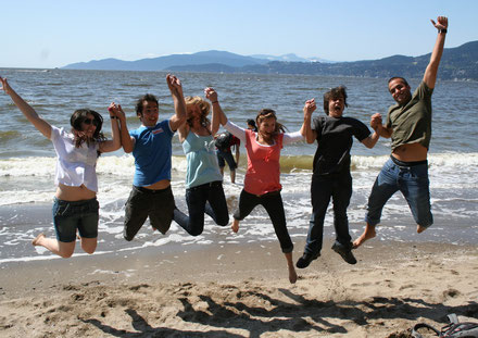 Nanaimo international students beach jump