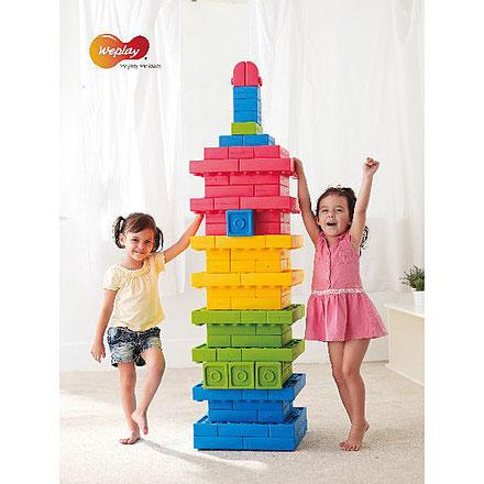 Blocs géants 64 pièces, jeux d'assemblage et de construction