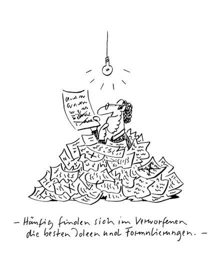 Illustration von Mock zum Thema Literatur