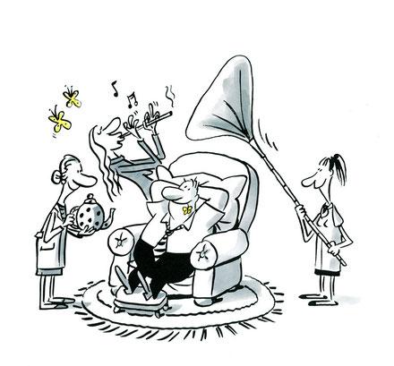 Illustration von Mock zum Thema Patient