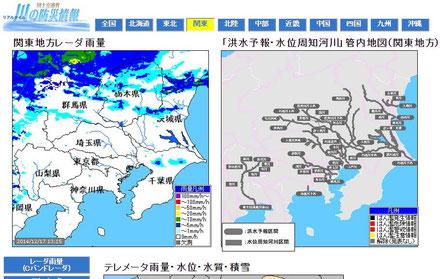 国交省 川の防災情報