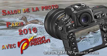 """La Vague"" exposée au stand de Nikon Passion au salon de la photo 2016 à Paris expo"