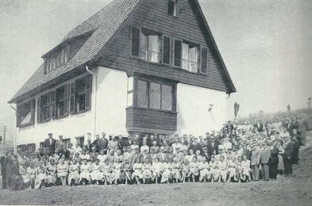 Einweihung des neuen Corpshauses zum 89. Stiftungsfest am 17.07.1955