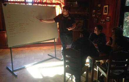 Unser Whiteboard kommt gerade in der Prüfungsvorbereitung oft zum Einsatz