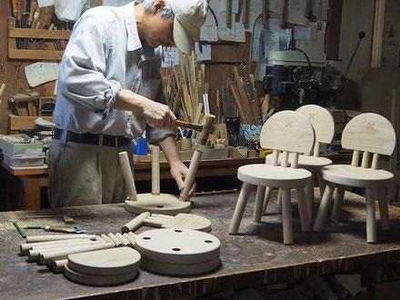 まぁ~るい子供椅子製作中5 ~組み立て~