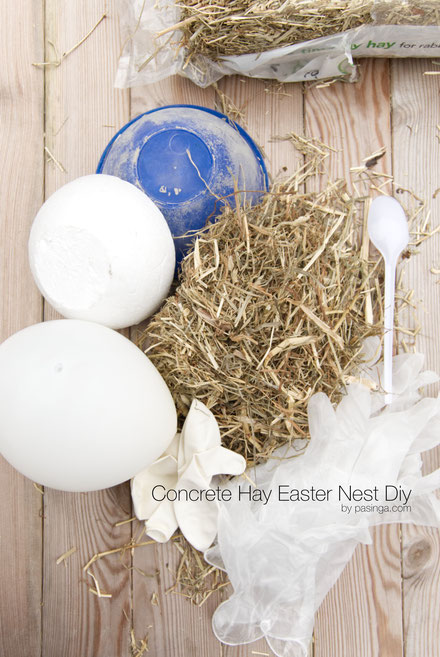 DIY Easter Nest Planter Bowl PASiNGA Concrete Tutorial