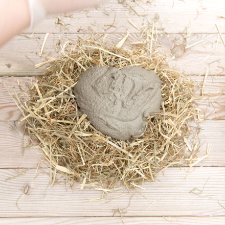 DIY hay reinforced concrete Easter bowl by PASiNGA Tutorials