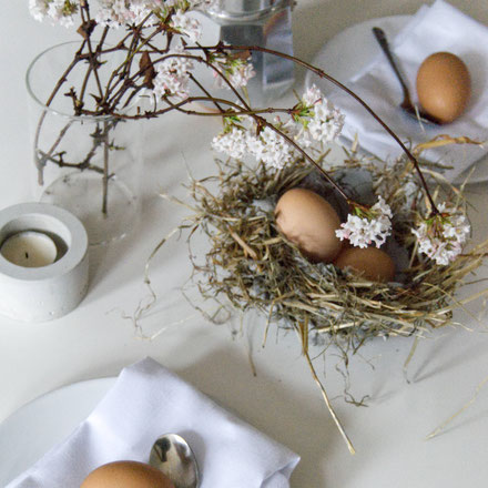 DIY Easter nest for your table setting by PASiNGA tutorials