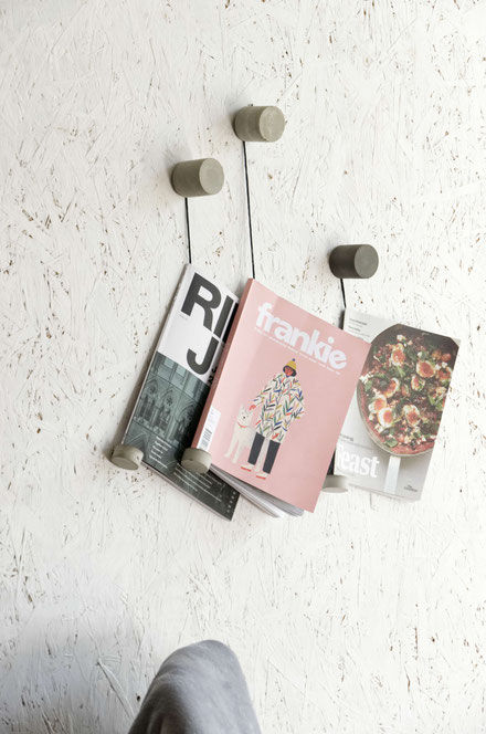 DIY Concrete and Twine Magazine Or Book Holder by PASiNGA
