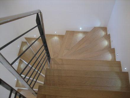 Eclairage LED dans un escalier