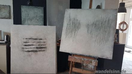 Kunstwerke im Atelier Bettina Hachmann