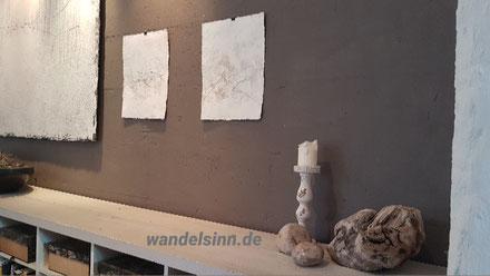 Wand im Atelier Bettina Hachmann
