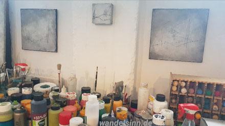 Farbenwelt im Atelier Bettina Hachmann
