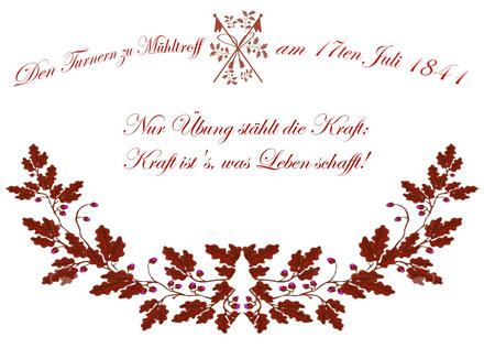 Die Mühltroffer Turnerfahne feiert am 17. Juli 2016 ihr 175-jähriges Jubiläum und gilt damit als älteste Turnerfahne Sachsens.