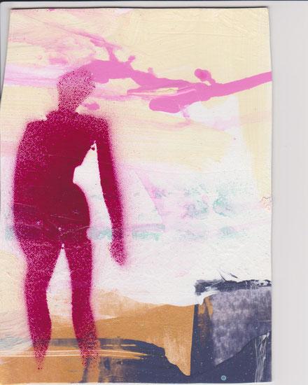 Im Fegefeuer / Akryl auf Leinwand, 2008, Frank Sacco