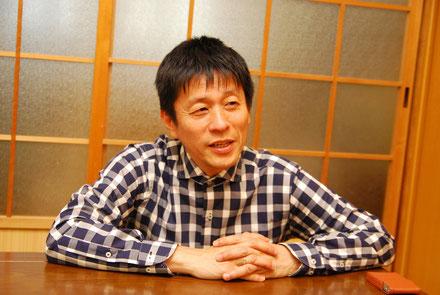 対談中。山田雅人さん