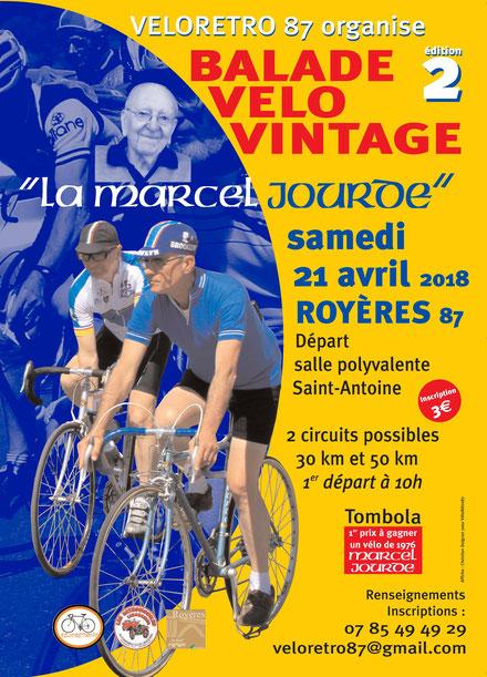 La randonnée sur vélos anciens, la Marcel Jourde 2018