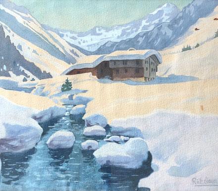 Rudolf Lienert, Winter auf Göscheneralp