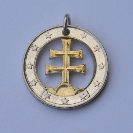 Münzsägewerk Katrin Thull | Slowakei - Patriarchenkreuz