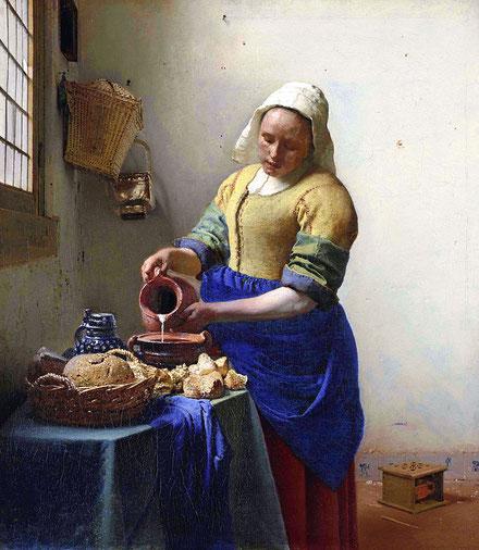 Самые известные картины Яна Вермеера - Молочница