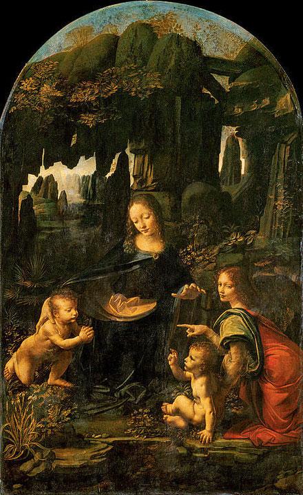 Мадонна в скалах - Леонардо да Винчи. Самые известные картины Леонардо да Винчи