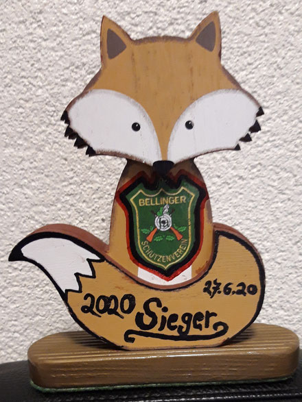 Fuchs-Pokal für den 1. Platz des 5. Fuchsschießen 2020