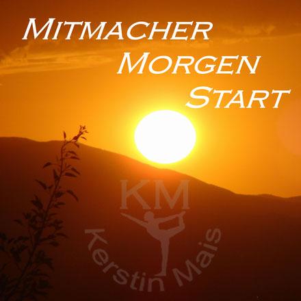 Logo Mitmacher - Morgen - Start - Aufwachpodcast - Sonnenuntergang