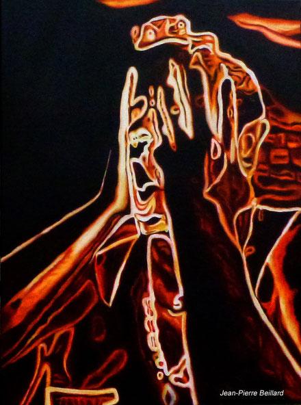 Le cri des innocents - Huile sur toile 80x60cm - Jean-Pierre Beillard