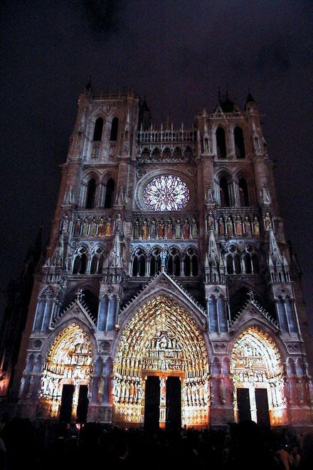 Cathédrale d'Amiens   -  Quai Bélu à Saint-Leu