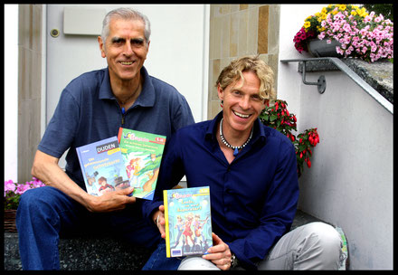 Kinderbuchautor Autoren Manfred Mai und Martin Lenz Juli 2015 (c) Anne Retter / Schöpfergeist