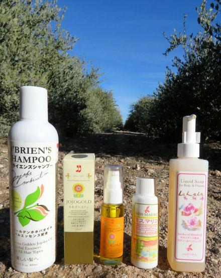 ♔ 原種ホホバセット ホホゴールドとホホバオイル配合のオブライエンズシャンプー、洗顔のミスマリコ、ラララで夏の暑さによるお肌と髪のケアを♪♪