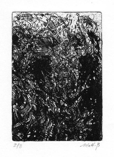 Déglingos / Eau forte sur zinc / 10 x 15 cm / Edition de 8 ex / 2016