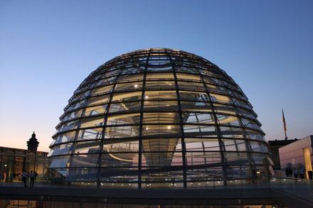 Dem Reichstag auf's Dach gestiegen
