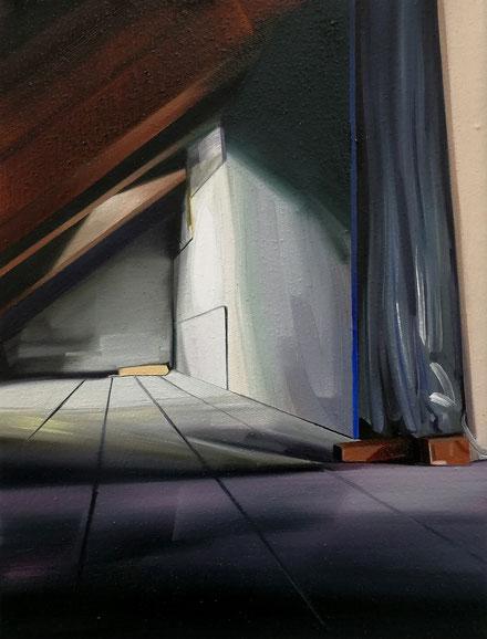 o.T, 2020, Öl auf Leinwand, 18x 24 cm