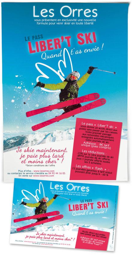 affiche flyer libert'ski les Orres