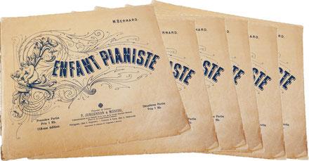 «Ребёнок-пианист», альбом 57 пьес для детей 6—7 лет, для начального обучения фортепианному искусству, редактор Матвей Бернард, выпуск Юргенсона (118-е издание), ноты