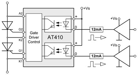 The AT410 Trigger Unit was developed for applications, requiring two independent controlled thyristor firing signals