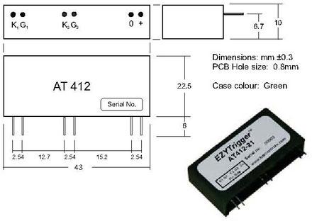 Das Thyristor Trigger Modul AT412 für nullpunktschaltende Thyristorsteller, Nulldurchgangsschaltungen, Blindleistungskompensierung, Halbleiterrelais, Elektrische Heiz-und Hochtemperaturregelungen, Schweiß-Geräte bzw. Automaten und Anlagen