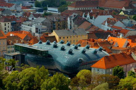 Graz top things to do - Kunsthaus Graz - Copyright Vismund