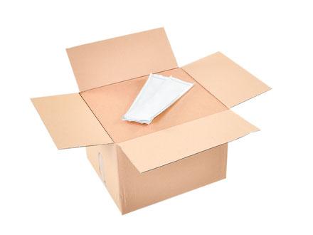 Fertig verschlossen sind die Produkte ideal beim Versand geschützt