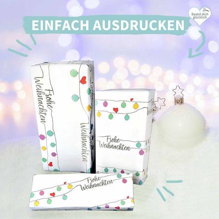 Geschenk verpacken, Geschenkpapier, ausdrucken, originell, selber basteln, weihnachten