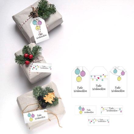 Geschenk verpacken, Geschenkpapier, ausdrucken, originell, selber basteln, weihnachten, Geschenkanhänger