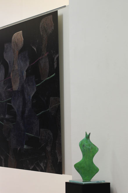 Heidrun Feistner: Kleines verrücktes Grün / Ausstellung Madrid Eka& Moor / Foto HF