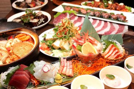 チラシの載せる宴会料理の写真