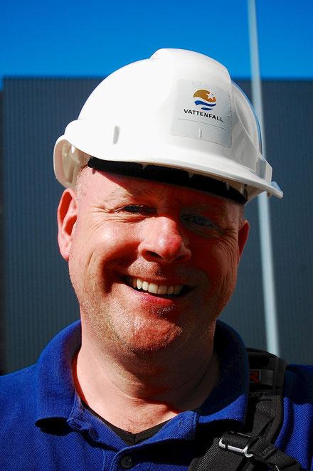 Bei Recherchen im Vattenfall-Braunkohlekraftwerk Schwarze Pumpe (September 2013) – Foto: S. Tetsch