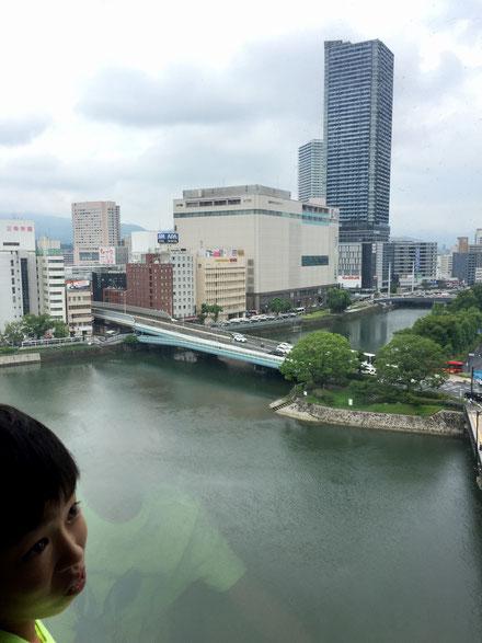 広島市内に戻りのホテルにチェックイン!