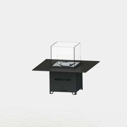Pelmondo Feuermöbel Cube Tischplatte Pellets fireplaces Feuerstelle Feuer Schreinerei Jertz Mainz Outdoor living