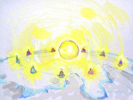dessin. dessiner en conscience. lescerclesdelumiere.com. Tours 37000. Séverine Saint-Maurice. conscience. sommet